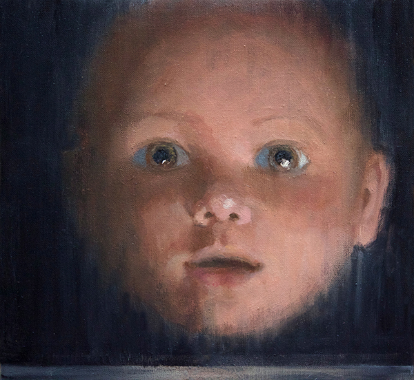 Boy, 2017<br>oil on canvas, 30 x 30 cm