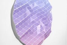 Tom Borgas, No Cloud (Dusk), 2019, aluminium, fixings, inkjet printed polyproylene, 109 x 108 x 8 cm