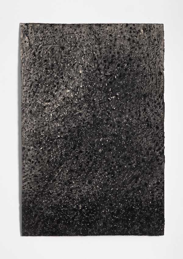Void #3, 2014<br>Charcoal, gesso and acrylic wash on Hahnemuhle paper<br>78 x 53 cm