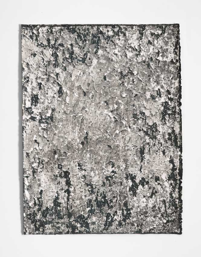 St Kilda #1, 2015 - 16<br>Charcoal and gesso on Hahnemuhle paper<br>81 x 61 cm