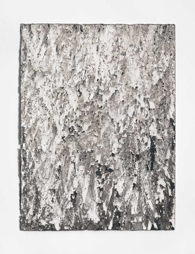 St Kilda #2, 2015 - 16<br>Charcoal and gesso on Hahnemuhle paper<br>81 x 61 cm
