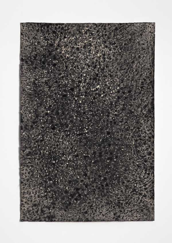 Void #4, 2014<br>Charcoal, gesso and acrylic wash on Hahnemuhle paper<br>78 x 53 cm