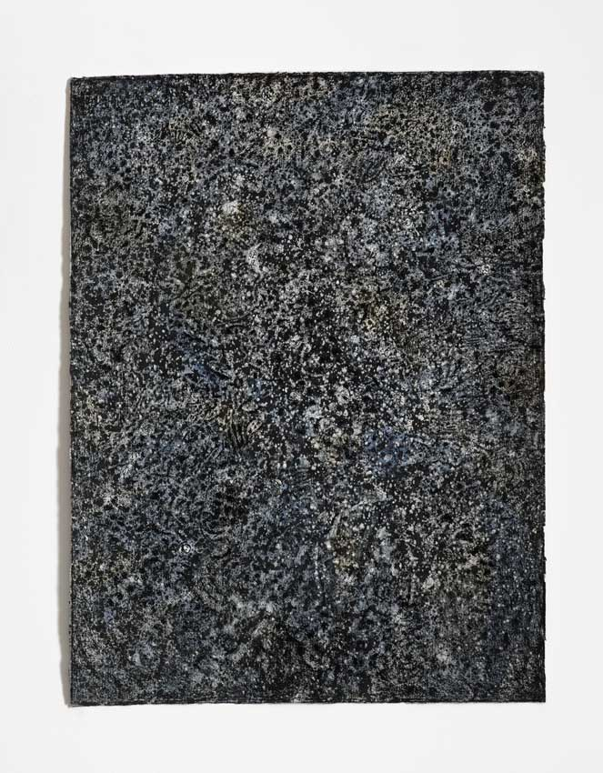 Void #8, 2014<br>Charcoal, gesso and acrylic wash on Hahnemuhle paper<br>81 x 61 cm