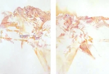 4. 'Cast ability' (diptych), 2016 <br/> pastel on archival paper, 77 x 228 cm