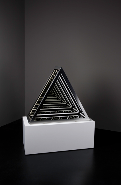 Jason Sims, 'Blank V', 2015, Wood, reflective glass, mirror, stainless steel, MDF and LED lights, 103 x 86 x 40 cm (including plinth)