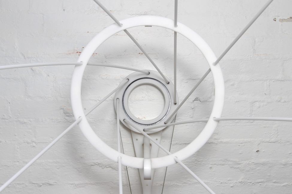 Laura Woodward, 'Gyre', 2015, Acetal, acrylic, fasteners, motor, electronics, 50 x 60 cm x 50 cm