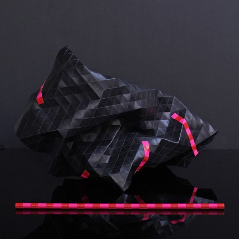 Tom Borgas, 'Black Triangulation' (maquette), 2015, Polypropylene, wood, adhesive tape, 36 x 21 x 17cm