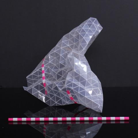 Tom Borgas, 'Transparent Triangulation' (maquette), 2015, Polypropylene, wood, adhesive tape, 36 x 21 x 17cm