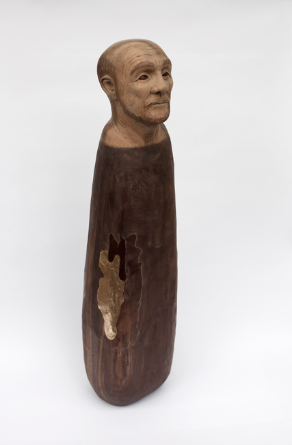 Wanda Gillespie, 'In Search of Hope', 2013, Suar and Walnut, imitation gold leaf, varnish, 60 x 20 x 20 cm