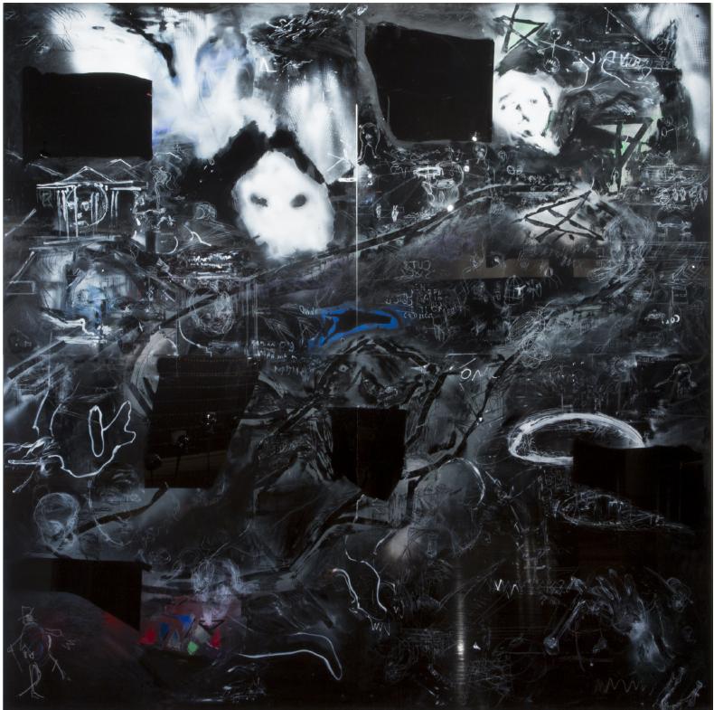 Adam Boyd, 'Dead Reckoning', 2017<br>Acrylic on 4 acrylic panels, 244 x 240cm