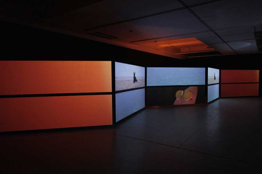 'TOTAL FIELD', 2015<br>multi-channel HD video installation