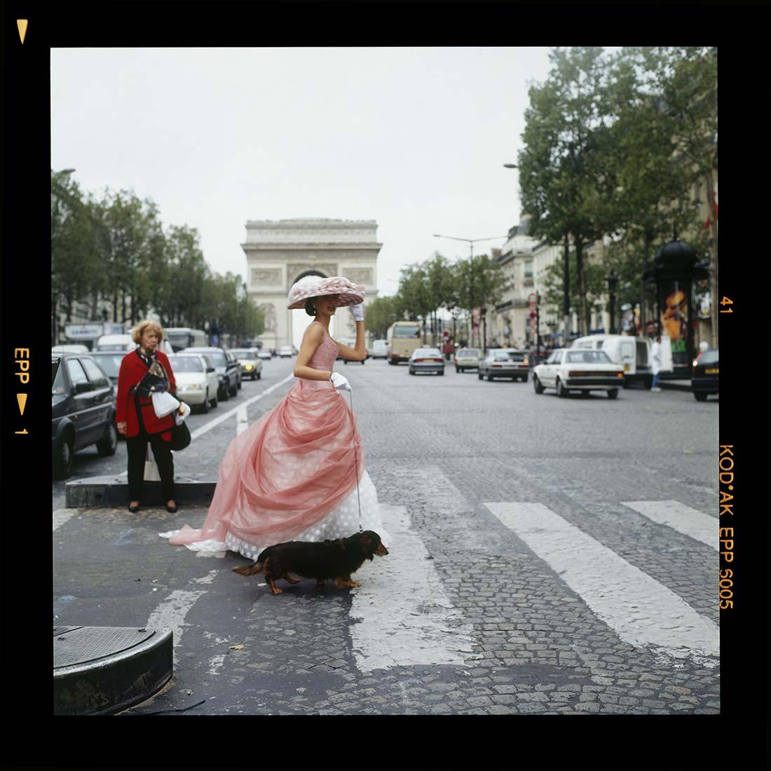 Model, Champs Elysees, Paris, 1995