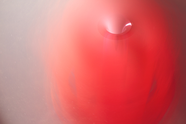 Red Vortex (Dissipative Structures Series), 2012<br>photograph mounted on dibond, dimensions variable