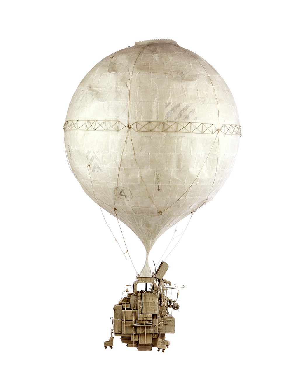 The Contraption, 2017<br>cardboard, trace paper, 110 x 60 x 60 cm