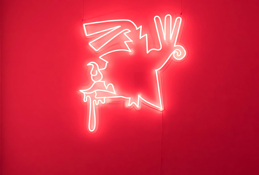 Diego Ramirez, The infinity of the past, 2019<br/>neon, 133 x 120 cm, edition of 3 +2 A/P