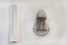Greer Taylor, 'wired 7', 2013, knitted wire, tinned copper, 45 x 45 x 18 cm