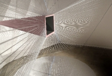 Greer Taylor, 'intrusion', 2013, painted sheet metal, silicon, thread mirror, 270 x 520 x 360 cm (detail)