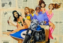 hitesh-natalwala-self-portrait-with-five-white-chicks-oil-on-digital-print-on-canvas-122-x-102-cm