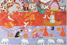 janno-bakts-dreaming-2011-acrylic-and-cotton-thread-on-canvas-183-x-122cm