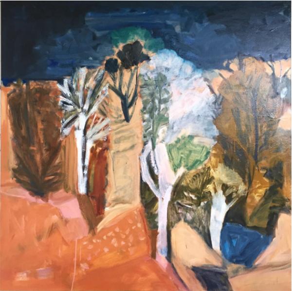 Gila Country, 2017<br>oil on canvas, 148 x 148 cm