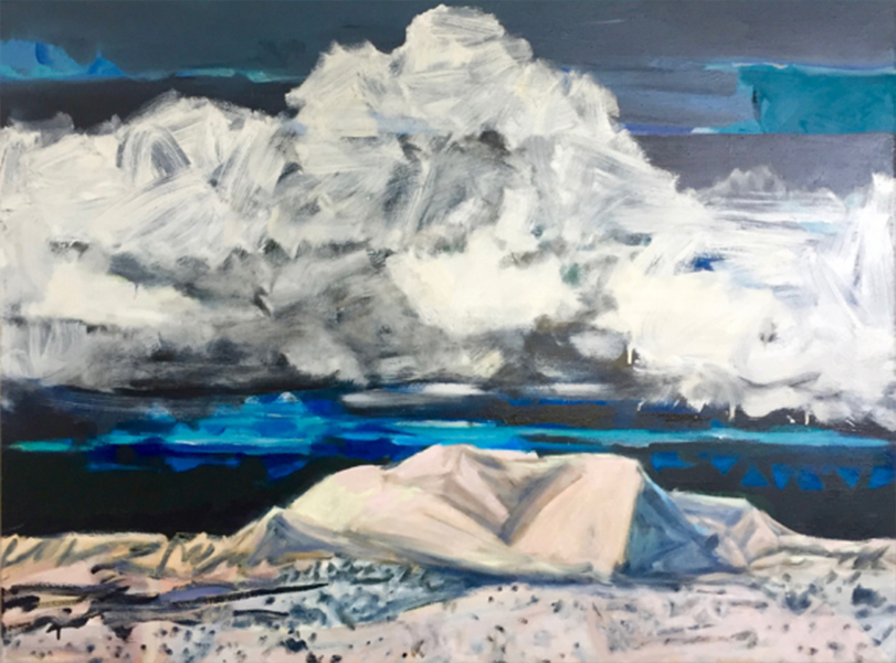 Cloud Chasing, 2017<br>oil on canvas, 91 x 144 cm