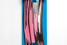 'ART PROS (Lichtenstein), Wood, polyurethane resin, epoxy resin, pigments, nitro cellulose lacquers, acrylic lacquers , 108 x 27.5 x 20 cm, 2014