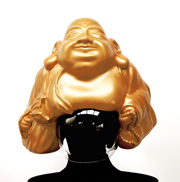 safe/secure (calmer Karma helmet), 2014 (SOLD)
