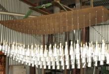 julie-collins-derek-john-the-underlying-message-2011-glass-cork-stainless-steele-papergrid-75-x-240-x-50cm