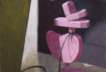 'Pink duck', oil on canvas, 35 x 46 cm, 2012