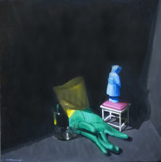 02. The Mystery II 2015 Oil on canvas 61 x 61cm