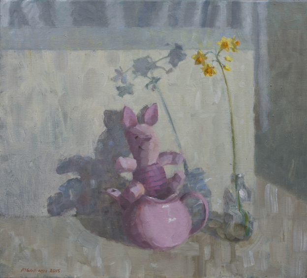 05. Still life with pink pig II 2015 Oil on canvas 50.5 x 55.5cm