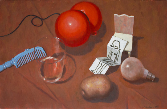 10. Still life with nude 2013 Oil on canvas 45 x 71cm