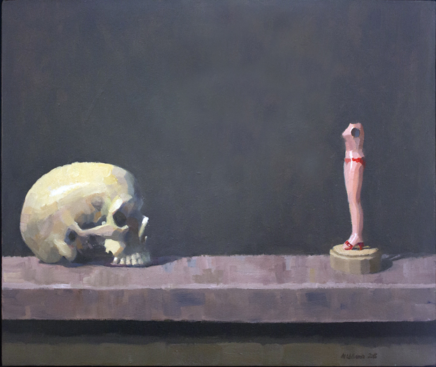 14. Still life with skull and doll 2015 Oil on canvas 51 x 61cm