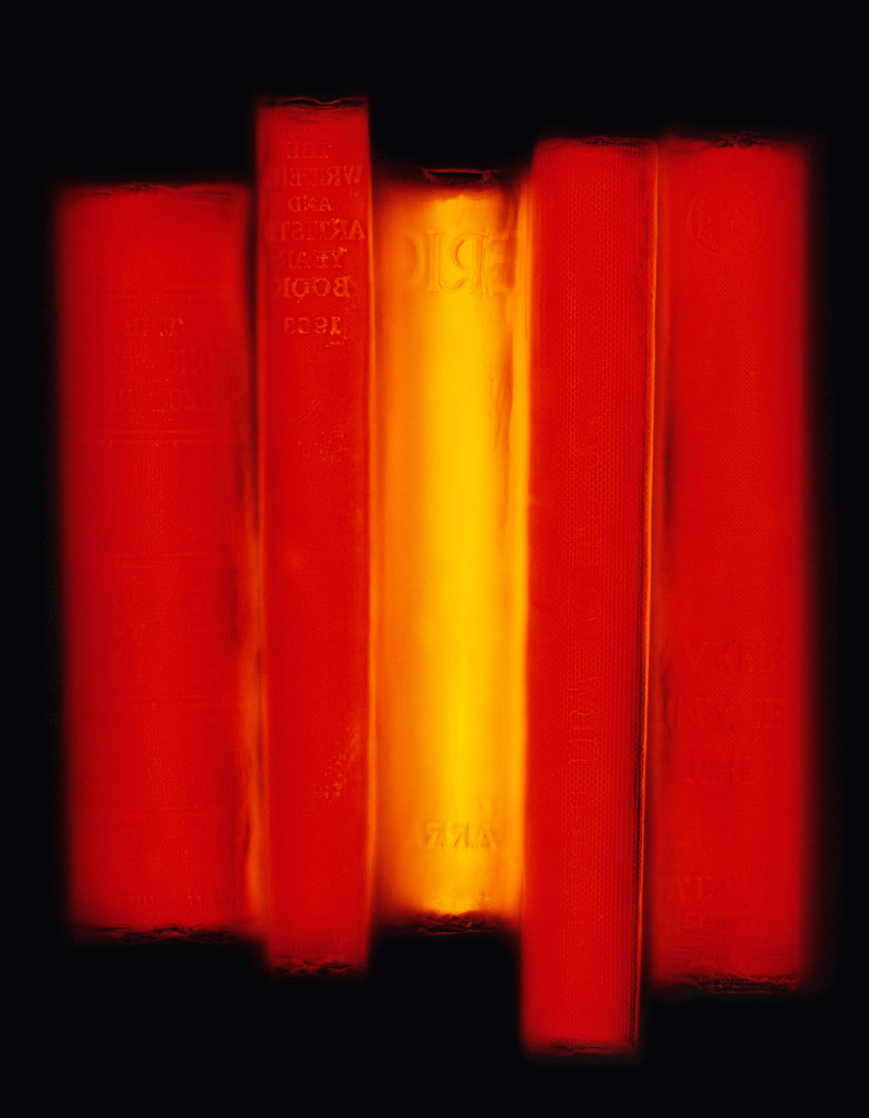 Non Fiction (Red), 2008, photogram