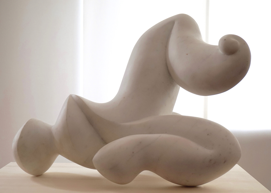 'Song', 2016,<br>Statuario White Marble, 45 x 38 x 60 cm