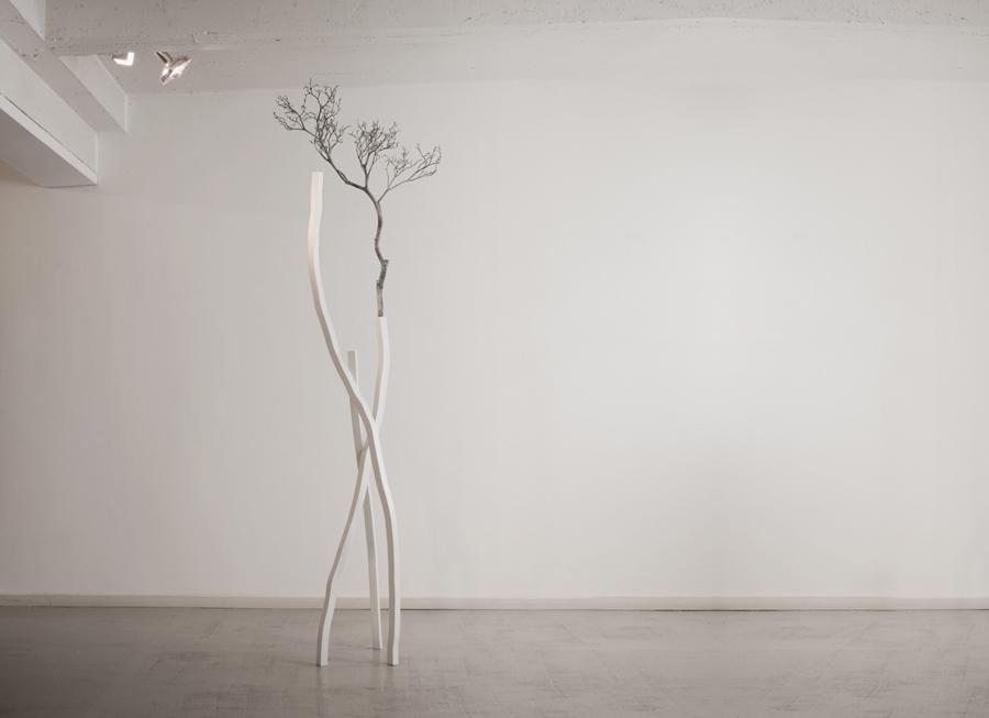2. 'Canopy V', stainless steel & bronze, 190 x 110 x 270 cm, 2015
