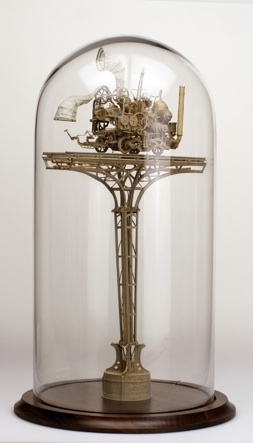 Daniel Agdag, 'The Inspector', Boxboard & trace paper mounted on wooden base with hand-blown glass dome