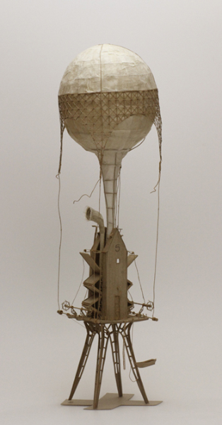 Daniel Agdag, 'The Inspector' 2013, Cardboard, trace paper, mounted on wooden base with hand-blown glass dome, 58.5 x 30.5 cm