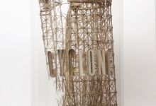 Daniel Agdag, 'The Decline' 2013, Cardboard, trace paper, mounted on wooden base with hand blown glass dome, 58.5 x 30.5 cm