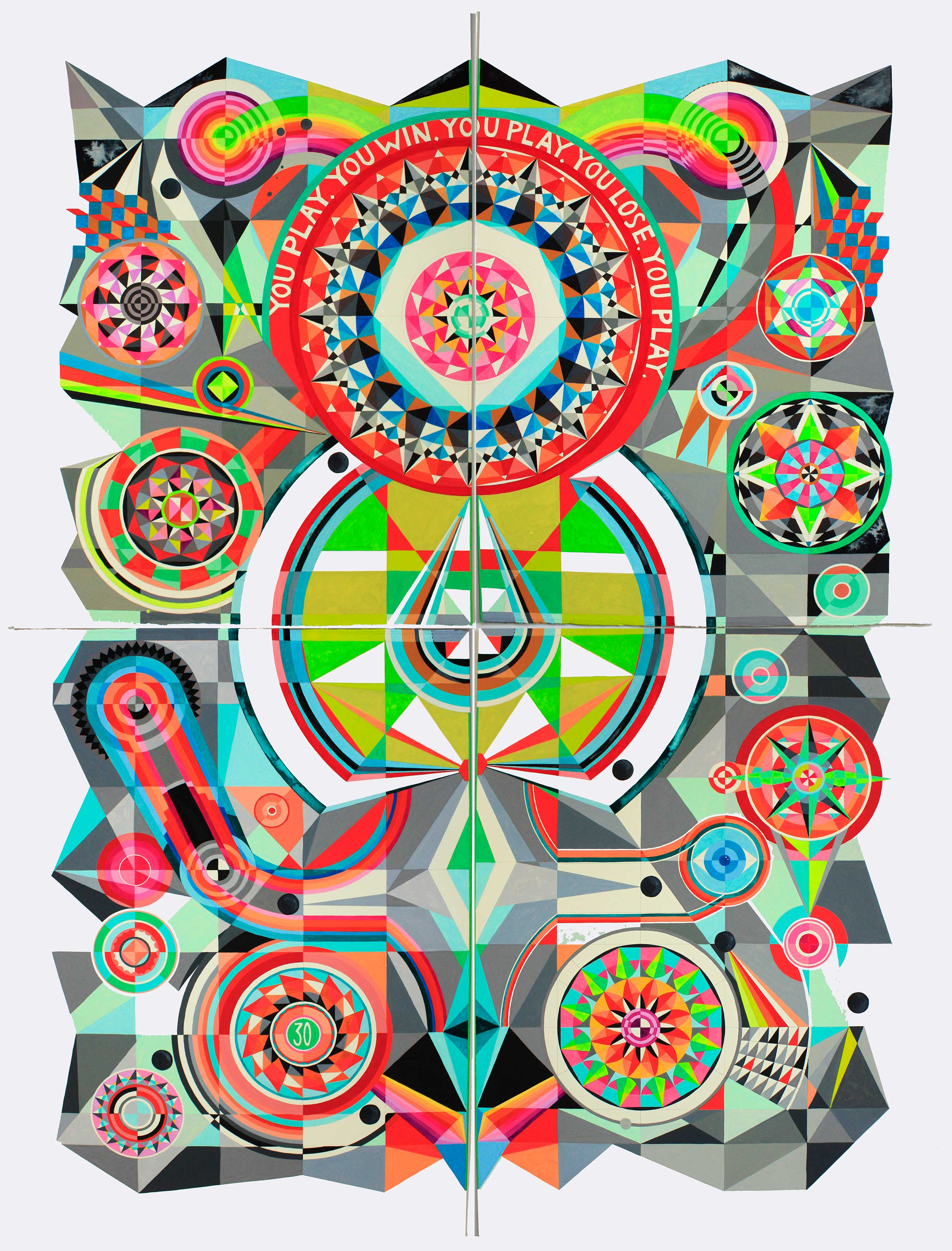 The Thin Green Baize, 2015 The Thin Green Baize, 2015 <br> gouache on paper, 112 x 152 cm