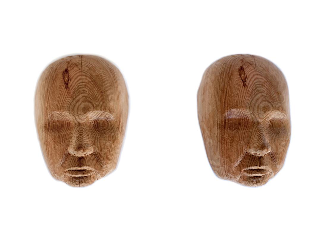 'Spirit 5 (Marita)', 2016,<br>woodcarving (Matai), 17 x 12 x 9mm