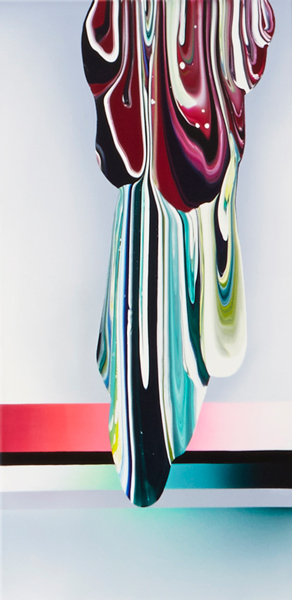 4. untitled, acrylic and oil on canvas, 122 x 61 cm, 2015