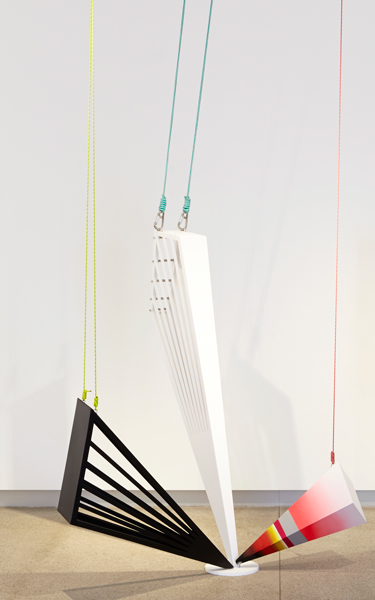 5. 'ray set', MDF, stainless steel, rope, 180 x 170 x 130 cm approximately, installation dimensions variable, 2015