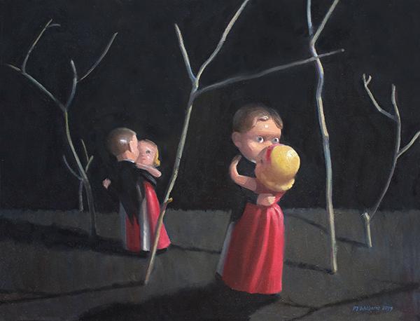 Night dancing, 2017<br/>oil on canvas, 50 x 56 cm