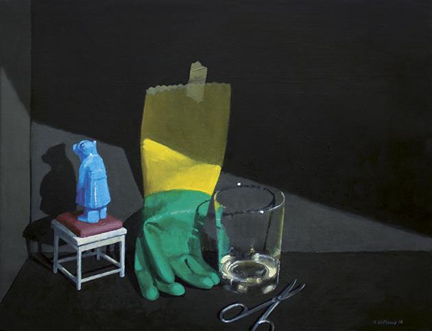 The Mystery III, 2016 <br/>oil on canvas, 49 x 65.5 cm