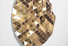 Tom Borgas, No Cloud (Gold), 2019, aluminium, fixings, mirrored vinyl, polypropylene, 109 x 108 x 9 cm