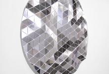 Tom Borgas, No Cloud (Silver), 2019, aluminium, fixings, mirrored vinyl, polypropylene, 109 x 108 x 9 cm