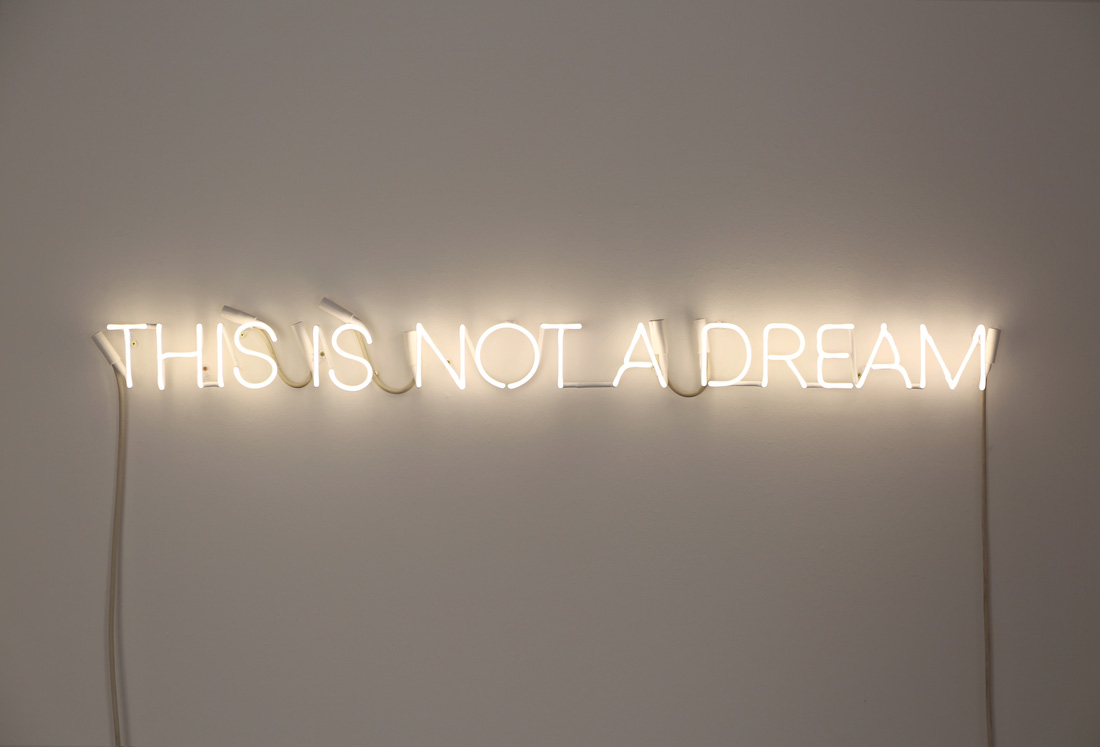 'Dream Piece', 2016 <br/> Neon, glass, argon, mercury, cables, transformer, electricity, 130 x 11 cm <br/>Edition of 5 + 2AP