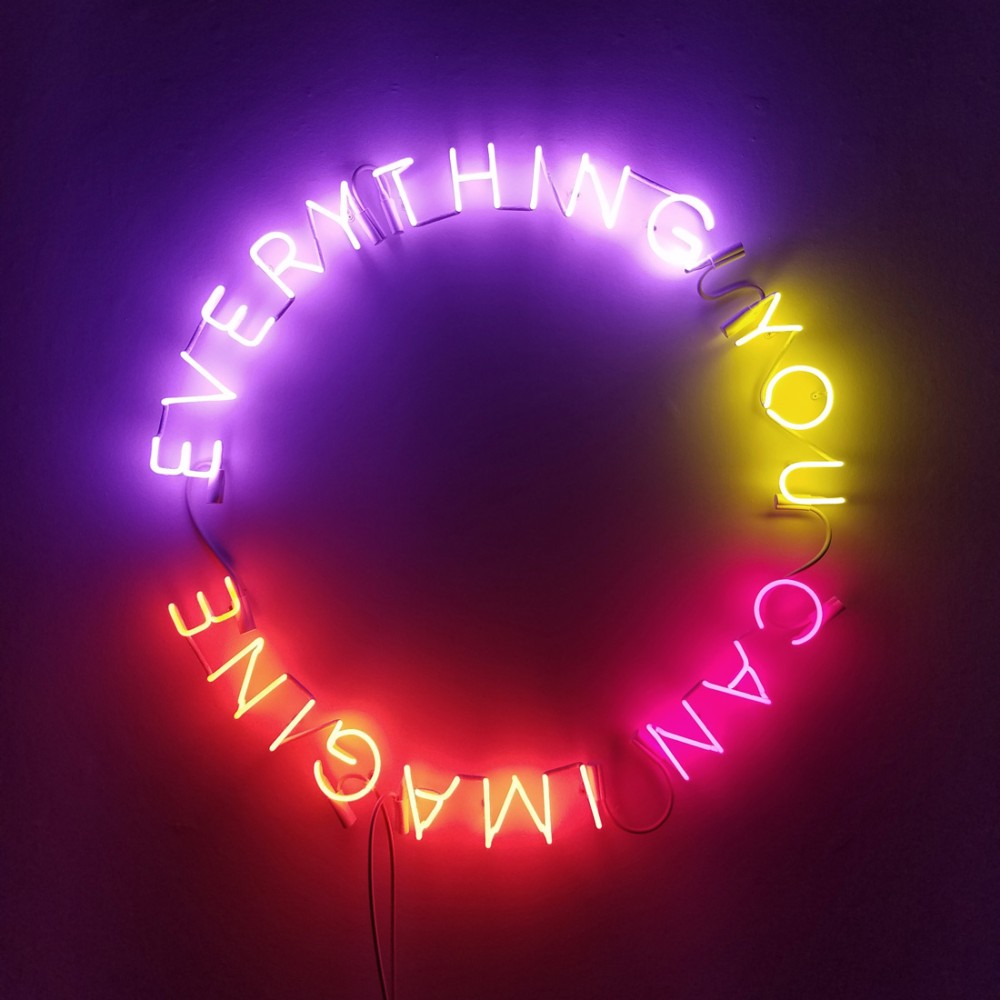 'Infinity Piece', 2016 <br /> Neon, everything you can imagine, 109 x 109 cm <br />Edition of 5 + 2AP
