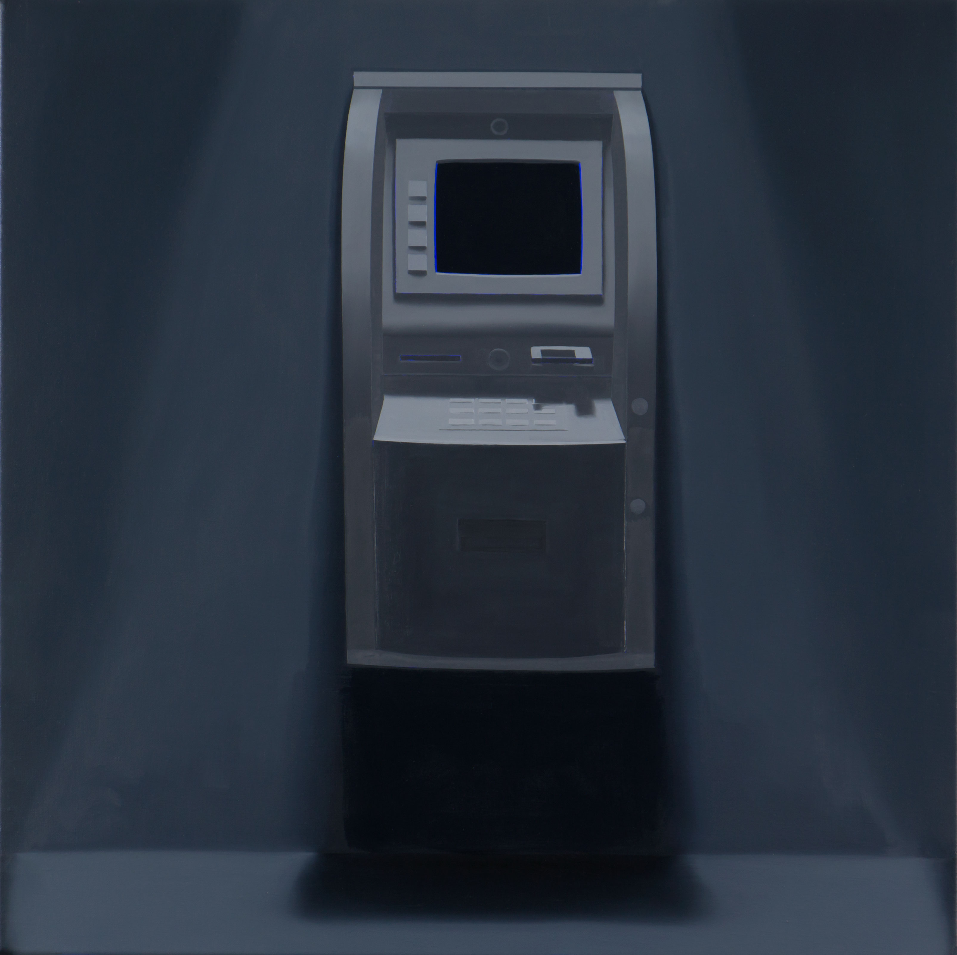 16. 'ATM-(At-the-Moment)', 2015<br/> Oil on linen, 60.5 x 60.5 cm